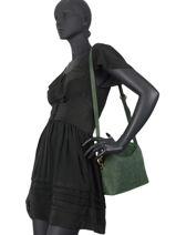 Shoulder Bag Vintage Leather Nat et nin vintage APPOLINE-vue-porte
