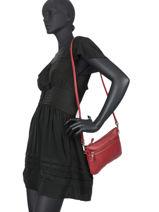 Satchel Vintage Leather Vintage Leather Nat et nin Red vintage VICKY-vue-porte