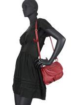 Shoulder Bag Vintage Leather Nat et nin Red vintage JEN-vue-porte