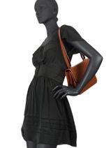 Shoulder Bag Croc Leather Nat et nin Brown croc C-vue-porte