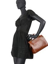 Leather Louise Croc Top-handle Bag Nat et nin Brown croc C-vue-porte