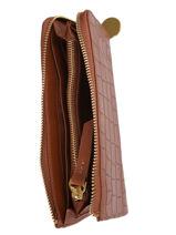 Leather Linn Wallet Nat et nin Silver croc C-vue-porte