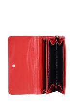 Wallet Lulu castagnette Red accessoires IDALINE4-vue-porte