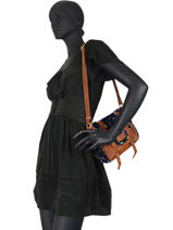 Vintage Rosy Crossbody Bag Mila louise Brown vintage 3408VC-vue-porte