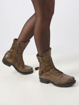 Leather boots-AS98-vue-porte