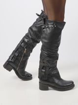 High leather boots-AS98-vue-porte