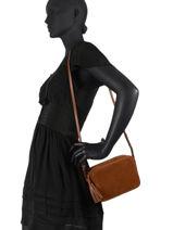 Shoulder Bag Folk Leather Gerard darel folk G407-vue-porte