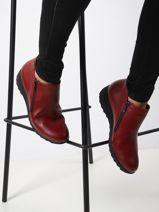 Amalia boots in leather-MEPHISTO-vue-porte