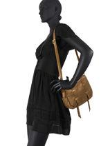 Leather Crossbody Bag Vintage Vintage Leather Mila louise Brown vintage 3017X-vue-porte