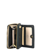 Leather Roma Wallet Mila louise Green vintage 3460SCV-vue-porte