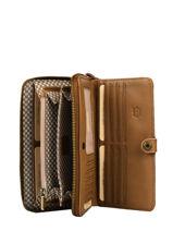 Leather Roma Wallet Mila louise Brown vintage 3461SCV-vue-porte