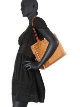Tyrol Shoulder Bag Les tropeziennes Brown tyrol TYR12-vue-porte