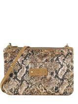 Natasha Python Crossbody Bag Mila louise Brown sarg 23665SG