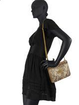 Natasha Python Crossbody Bag Mila louise Brown sarg 23665SG-vue-porte