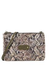 Natasha Python Crossbody Bag Mila louise Green sarg 23665SG