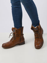 Leather lace-up boots-MUSTANG-vue-porte