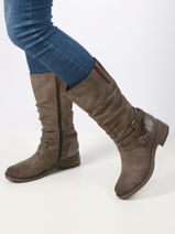 Mid-high leather boots-MUSTANG-vue-porte