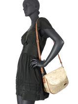 Shoulder Bag Corno Nero Les tropeziennes Gold corno nero COR14-vue-porte