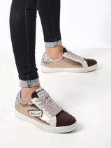 Leather sneakers-MELINE-vue-porte