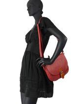 Shoulder Bag Brown Miniprix Red brown H7992-vue-porte