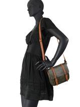 Messenger Bag Brown Miniprix Green brown H6705-vue-porte