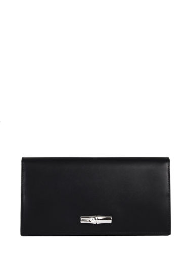 Longchamp Roseau box Wallet Black