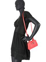 Longchamp Roseau box Handbag Pink-vue-porte