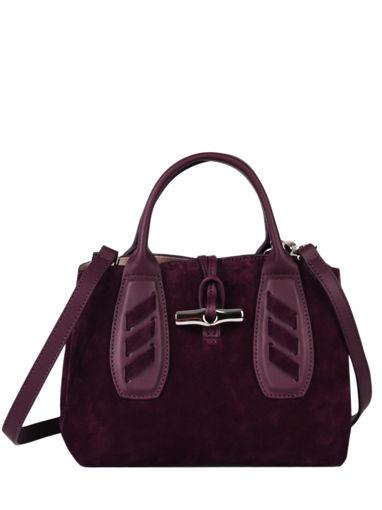 Longchamp Roseau lacet Sacs porté main Violet