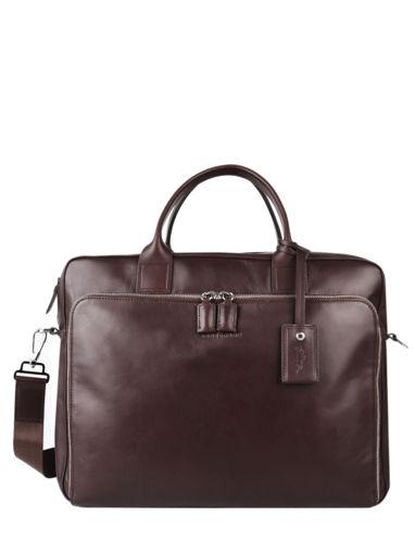 Longchamp Baxi Serviette Marron