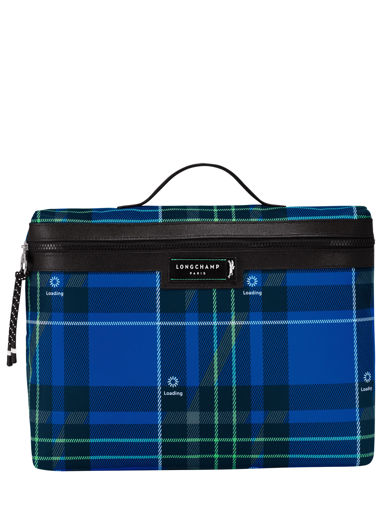 Longchamp Green district printed Briefcase Blue