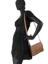 Leather Crossbody Bag Sagan Nathan baume Brown ines 2-vue-porte