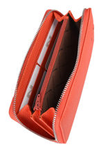 Wallet Leather Nathan baume Orange original n 100277N-vue-porte