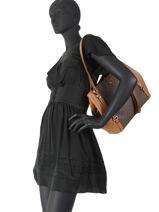 Shopper Carrie Michael kors Brown carrie F0G1AE3B-vue-porte