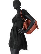 Sac Shopping Carrie Cuir Michael kors Rouge carrie F0G1AE3L-vue-porte