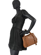 Top Handle Carrie Leather Michael kors Brown carrie F0G1AE2L-vue-porte