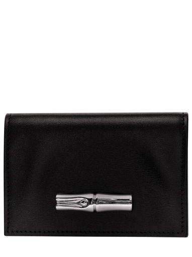 Longchamp Roseau box Portefeuilles Noir