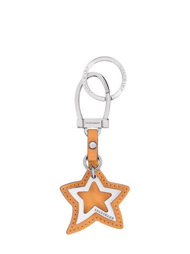 Longchamp Le pliage cuir Porte clés Jaune