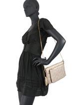 Shoulder Bag Manhattan Liu jo Gold manhattan NF0115-vue-porte