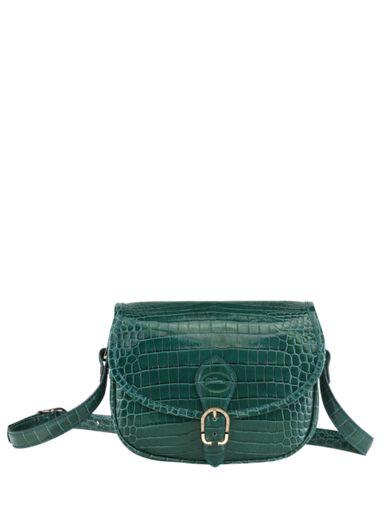 Longchamp Longchamp 1980 croco Messenger bag Green