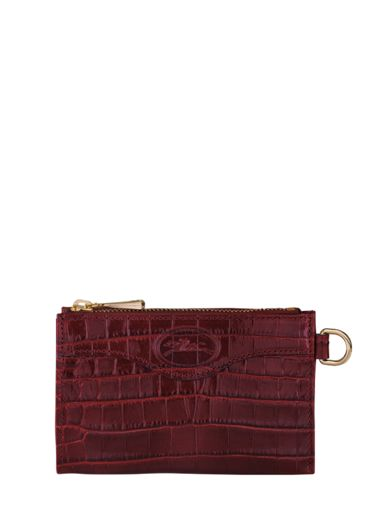 Longchamp Longchamp 1980 croco Etui passeport Rouge