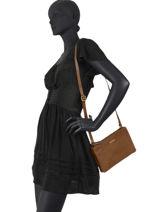 Shoulder Bag Soul Sky Leather Burkely Brown soul sky 69-vue-porte