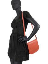 Shoulder Bag  Leather Milano Orange 145N-vue-porte