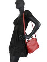 Longchamp Le foulonné Handbag Red-vue-porte