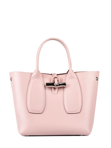 Longchamp Roseau box Sacs porté main Rose
