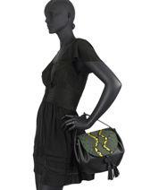 Leather Evasion Fantaisie Top-handle Bag Etrier Green evasion fantaisie EEVF01-vue-porte