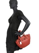Top Handle Ecuyer Leather Etrier Red ecuyer EECU05-vue-porte