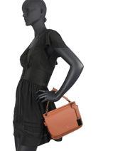 Top Handle Ecuyer Leather Etrier Beige ecuyer EECU01-vue-porte