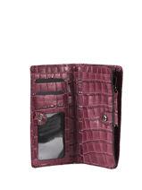 Leather Darwin Wallet Etrier Red darwin EDAR91-vue-porte