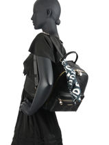 Backpack Desigual Black alexandra 20WAKP38-vue-porte