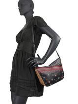 Shoulder Bag Lululove Desigual Black lululove 20WAXP54-vue-porte